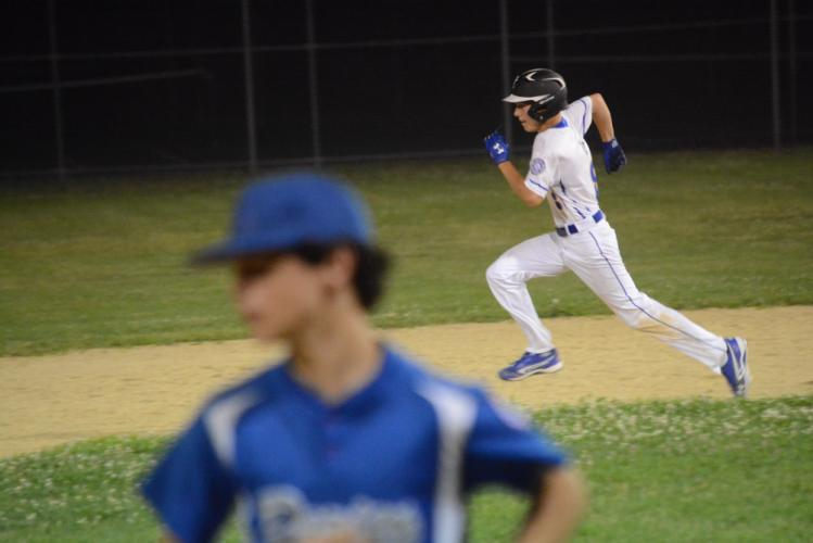 Drew Poseno runs the bases. He went 3-for-4 against Darien. (Bee Photo, Hutchison)