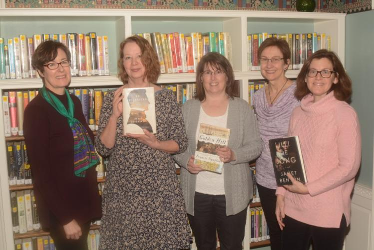 C.H. Booth Library staff shares its picks for 2017 and what to consider this calendar year. Pictured are, from left: Andy Forsyth, Lucy Handley, Anne Mastroianni, Frances Ashbolt, and Margaret Larsen.  (Bee Photo, Hutchison)