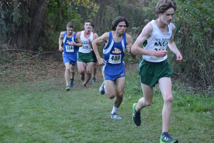 Christian Lestik (No. 400) and Joel Duval (No. 384) make their way up the hill. (Bee Photo, Hutchison)