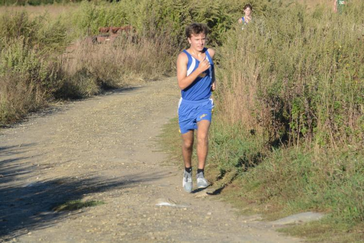 Ryan Escoda led the boys and finished second. (Bee Photo, Hutchison)
