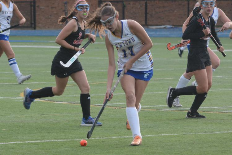 Katherine Dirga moves with the ball. (Bee Photo, Hutchison)