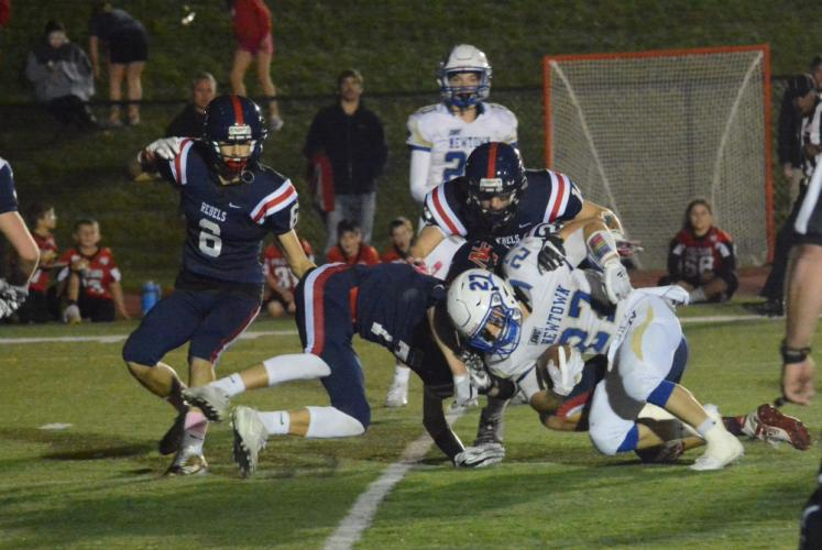 Jack Miller (No. 27) had two touchdowns against the Rebels. (Bee Photo, Hutchison)