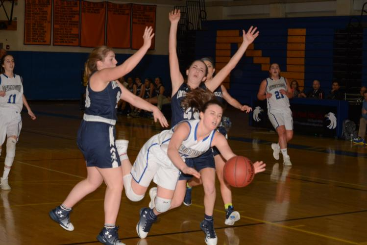 Kira Smith competes during Newtown's win over Immaculate in the SWC quarterfinals. (Bee Photo, Hutchison)