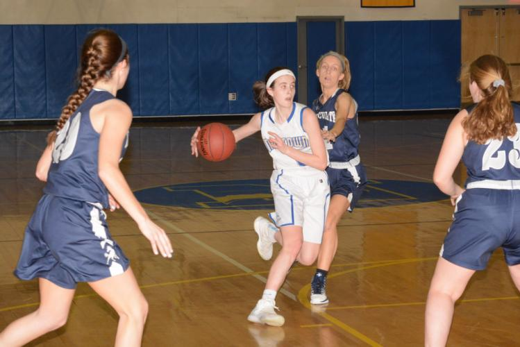 Rylee Mulligan makes a move during the playoff opener. (Bee Photo, Hutchison)