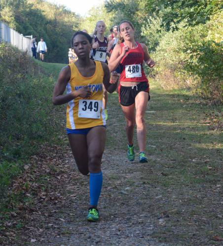 Camille Johnson was the fastest Newtown girls' squad finisher. (Bee Photo, Hutchison)