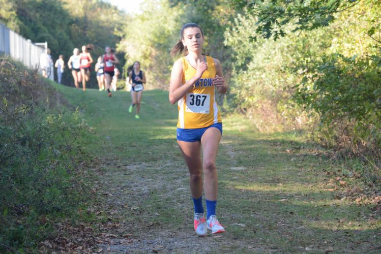 Emily Tressler makes her way through the course. (Bee Photo, Hutchison)