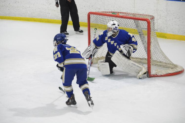 Goaltender Justin Halmose and the Nighthawks blanked Barlow 8-0. (Bee Photo, Hutchison)