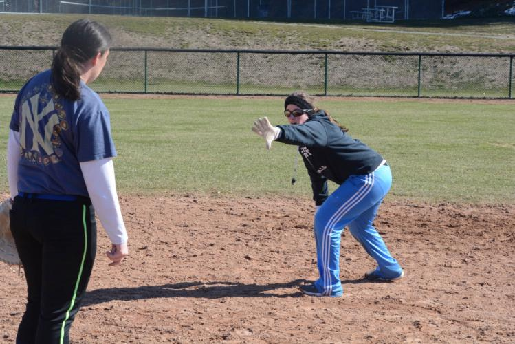 Joanna (Berry) Closs, a former third baseman for the Nighthawks, takes over coaching duties at Newtown High this spring. (Bee Photo, Hutchison)