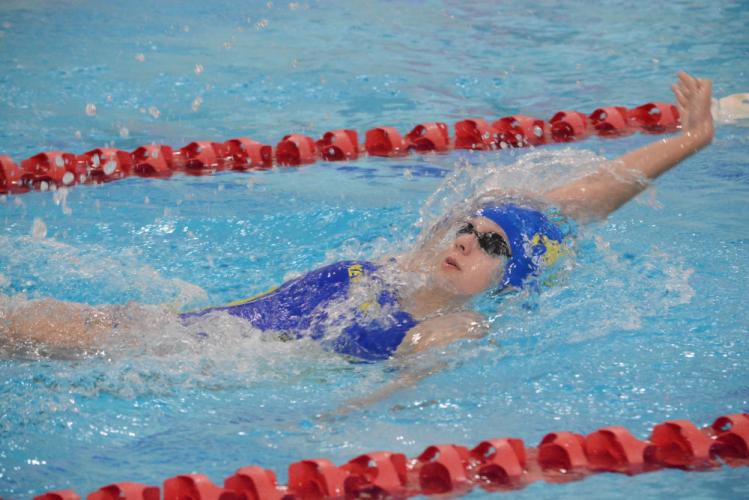 Mary Hufziger races during the season. Hufziger competed in three events during the State Open. (Bee Photo, Hutchison)