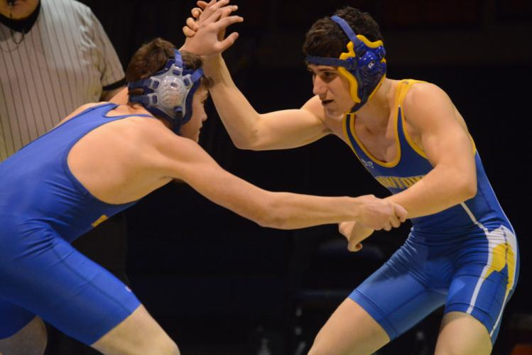Nik Accousti and the Hawks will compete in the SWC championships on Saturday, February 10. (Bee Photo, Hutchison)
