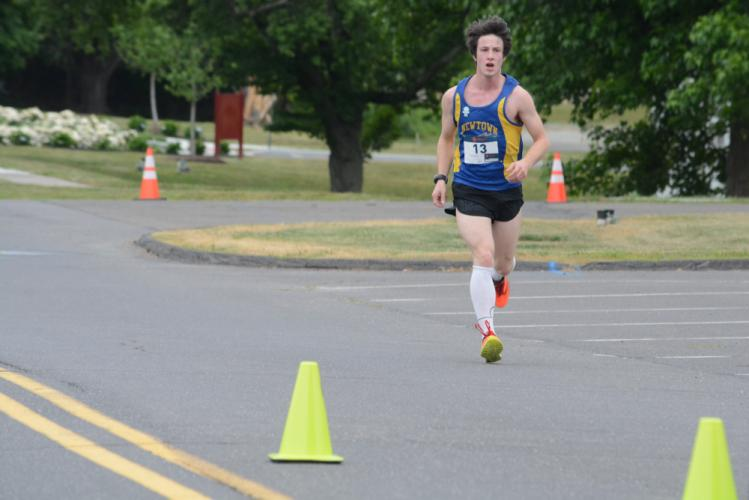 Christopher Gamble was runner-up in the 5K. (Bee Photo, Hutchison)