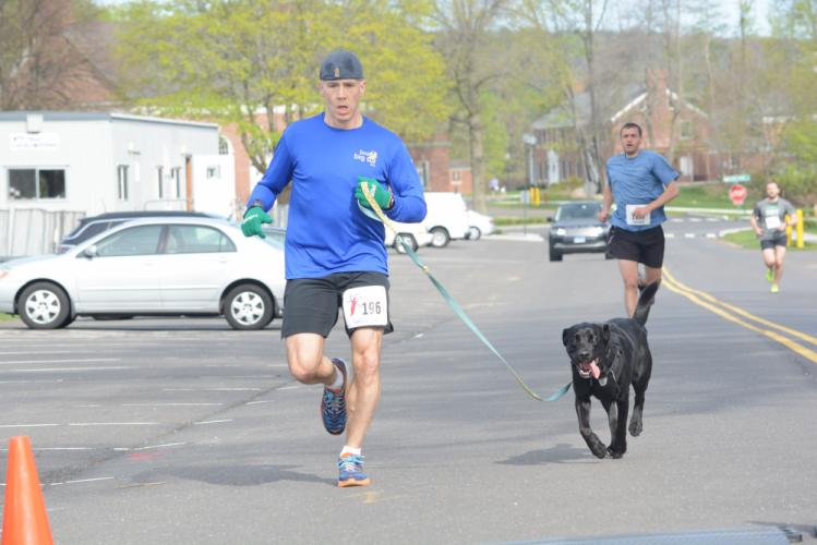 Rick Spiker and his dog Quinn placed third. (Bee Photo, Hutchison)