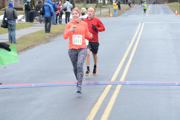 Brenda McRae was the fastest female finisher, and was tenth overall, in a time of 19:35. (Bee Photo, Hutchison)