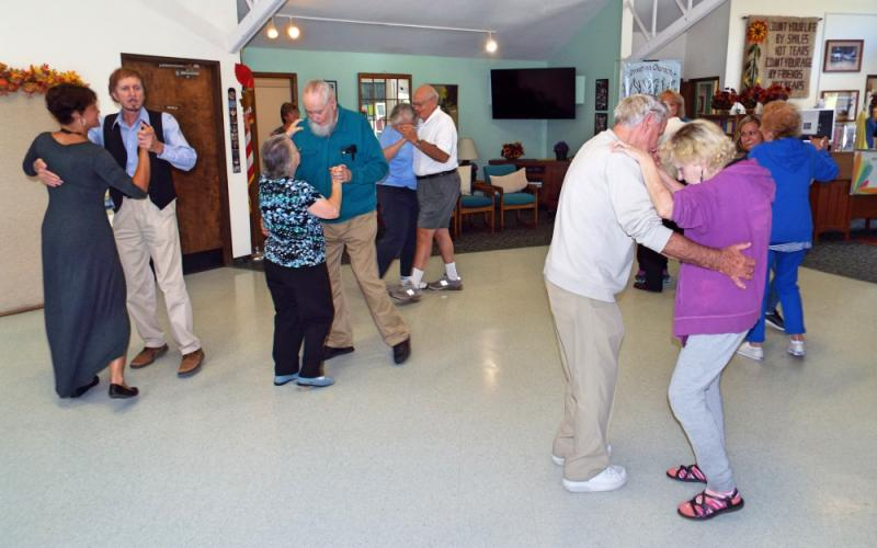 The Newtown Senior Center, 14 Riverside Road, hosted an introductory Ballroom Dance Class on Monday, October 2. (Bee Photo, Silber)