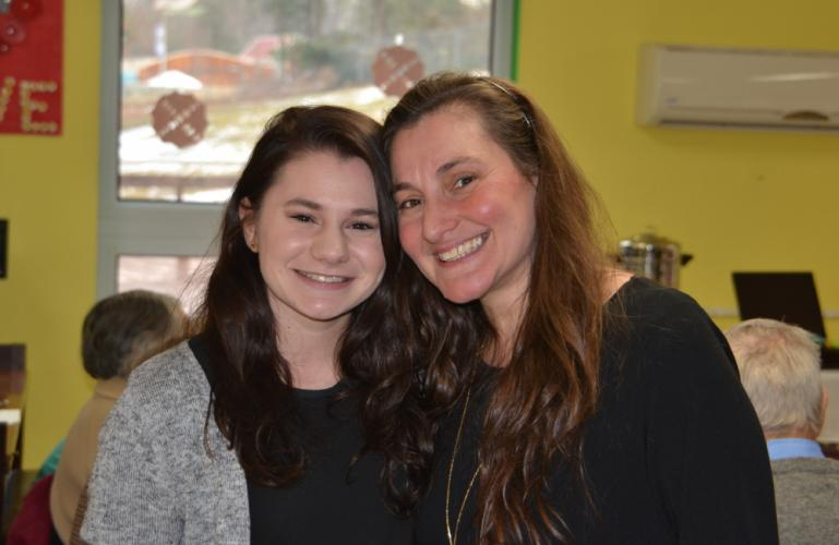 Friends and family members of the Children's Adventure Center came out to celebrate the High Tea event, including Director Anna Ruggiero' daughter Angelina, pictured left, with her mom. (Bee Photo, Silber)