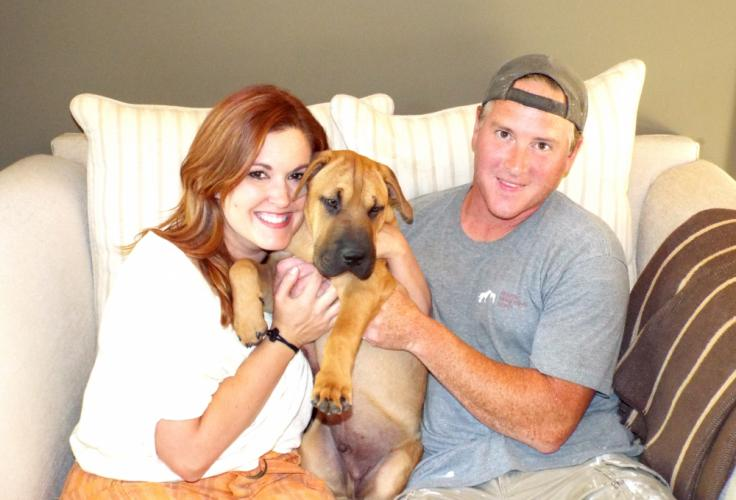 Trish and Justin Wootton want to thank the Newtown community for all the overwhelmingly positive support they received when their dog Ozzy went missing on Wednesday, August 2. (Bee Photo, Silber)