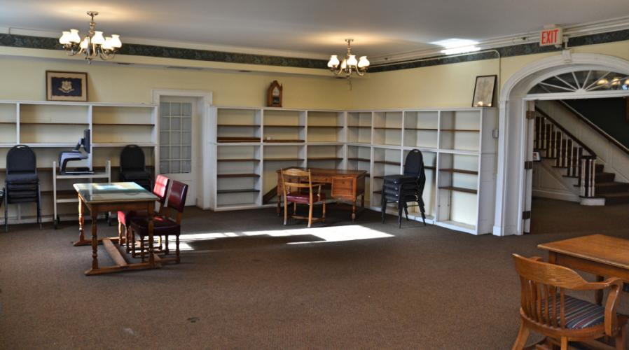 As of December 21, the old Genealogy Room on the second floor had bare shelves as its many books and binders were placed in the new third floor Genealogy Room. (Bee Photo, Silber)