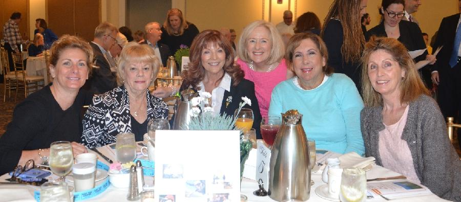 Pictured from left are Coldwell Banker members Kathy Suhoza, Joan Briglia, Karen Alpi, Joan Salbu, Sandi Czaplicke, and Dolores Sullivan at the 29th Annual Summer Breakfast for Regional Hospice and Palliative Care.  (Bee Photo, Silber)