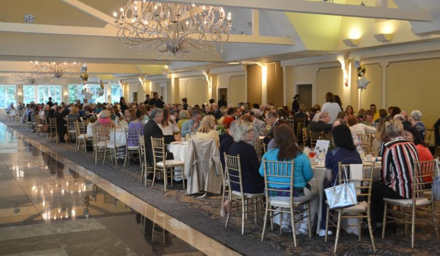 Over 35 tables were filled with people from the local community who came out to support the Regional Hospice and Palliative Care at the Newtown Giving Circle's 29th Annual Summer Breakfast at the Waterview on June 13. (Bee Photo, Silber)
