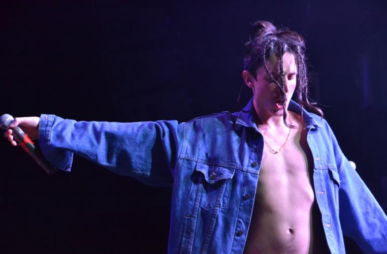 Pictured is Mitchel Cave, lead singer of the Australian band Chase Atlantic, during his band's opening set for Lights on February 26 in New York City. (Bee Photo, Silber)