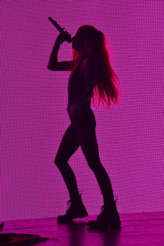 """When first taking the stage at the We Were Here Tour, Lights sang her single """"New Fears"""" in front of a wall of colorful LEDs. (Bee Photo, Silber)"""