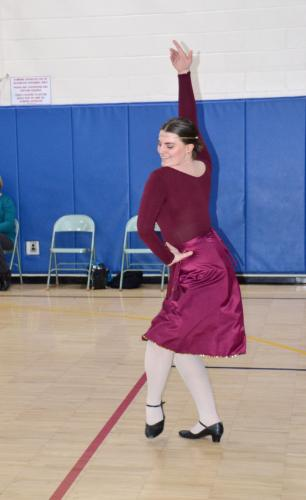 At the Newtown Centre of Classical Ballet & Voice's planetary show at Middle Gate Elementary School, Newtown High School senior Arline Almeter represented Jupiter. (Bee Photo, Silber)