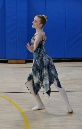 Newtown High School freshman Taegan Smith portrayed the planet Mercury, known as the transporter of messages in Roman mythology, during the Newtown Centre of Classical Ballet & Voice performance at Middle Gate Elementary School on March 5. (Bee…