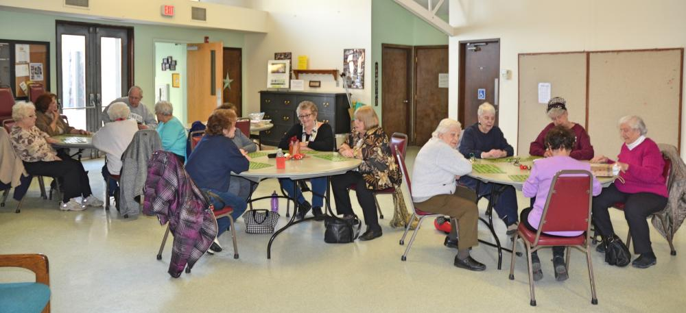 The Newtown Senior Center hosted a special game called Recycle Bingo on January 19. (Bee Photo, Silber)