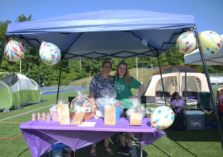 Mother and daughter Cyndy and Emma Stierle of Team Resiliency continued to raise funds for the American Cancer Society at Relay For Life by selling WrenHouse Atelier soy candles and having a raffle. (Bee Photo, Silber)