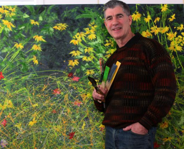 A Signature Artist and elected board member of The Pastel Society of America, Dick McEvoy stands in front one of his recent paintings, a landscape done in what he calls Abstract Impressionism. The award-winning artist has been using oils and enamels…