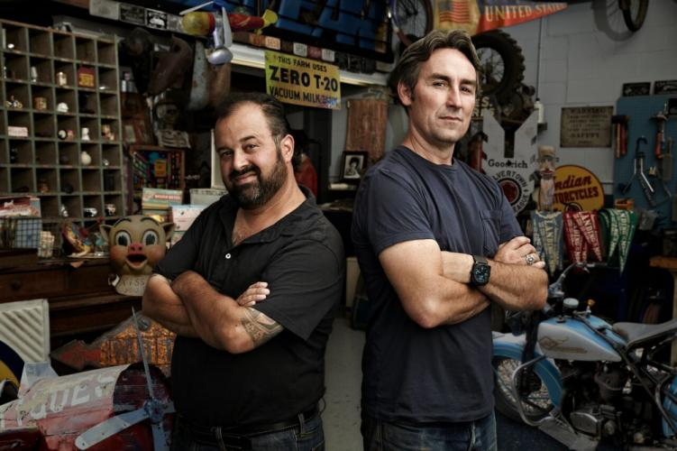 """American Pickers stars Frank Fritz and Mike Wolfe will be """"picking"""" on Connecticut history in June; private collectors of antiques and other relics can be part of the popular series."""