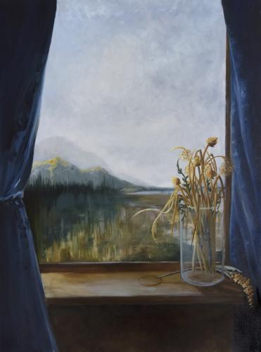 """""""I wanted to write to you"""" is a large oil painting by Christine Armold that is included in the 2017 MFA Thesis Exhibition at Western Connecticut State University. The Sandy Hook artist feels the 30-by-40-inch painting is something of a self-portrait…"""
