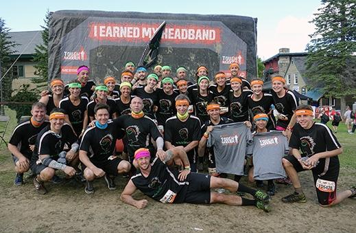 Team Tribe Mud For Brains competed in the New England Tough Mudder in support of the Avielle Foundation. (Dee Hodson photo)
