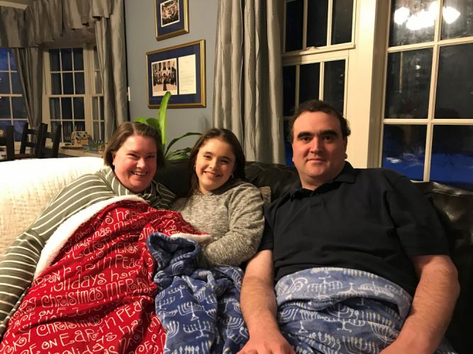 Dan Krauss was able to celebrate Christmas with his wife Betsy and daughter Rachel last year thanks to receiving a life-saving heart transplant earlier in April. (photo courtesy Dan Krauss)