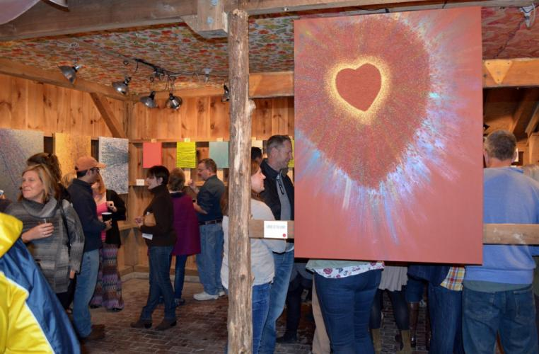 "Guests on Saturday mingled inside a barn owned by Yolie Moreno, who welcomed nearly 300 people to her property for the special event. Dave Brooker sold every piece that was available for purchase in ""Beautiful Consequences,"" and also picked up a…"