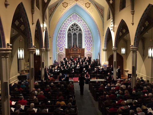"""The Connecticut Choral Society will welcome the holiday season this weekend with three performances of """"The Gift of Christmas,"""" including two at its new home, Trinity Episcopal Church in Newtown.  (photo courtesy Connecticut Choral Society)"""