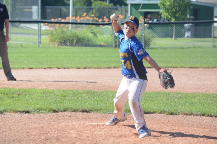 Kieran Frieary throws a pitch. (Bee Photo, Hutchison)
