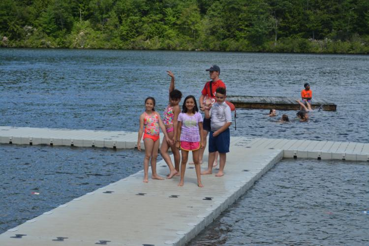 Children and teens who have been impacted by trauma can go to Camp Hope Connecticut and be carefree, getting opportunities to play with friends and do outdoor activities like swimming. (photo courtesy Beth Fitzpatrick)