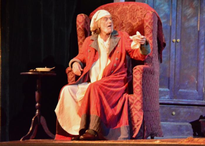 Broadway and television star Graeme Malcolm was a perfect type to portray Ebenezer Scrooge, reprising a role he played for NewArts Producing Artistic Director Michael Unger in a number of productions of A Christmas Carol Mr Unger put on at Princeton…