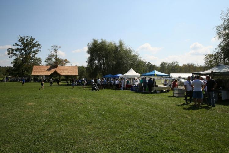 Tents were set up at the 42nd Annual Ukrainian Festival at Paproski's Castle Hill Farm. (Bee Photo, Hallabeck)