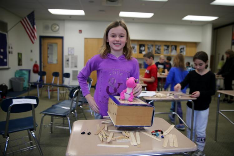 Fourth grader Samantha Perrin not only completed a challenge in late November to build a structure in 30 minutes that could hold bricks, she also tested the structure to hold an unabridged dictionary. She added a stuffed animal on top of the…