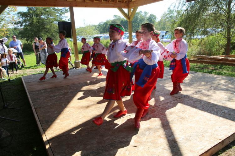 Members of the Kalynonka dance group of Stamford perform at the 42nd Annual Ukrainian Festival in Newtown. (Bee Photo, Hallabeck)