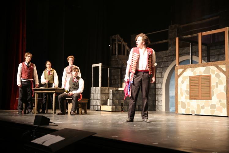 Nicolas Stowell sings as Enjolras.  (Bee Photo, Hallabeck)