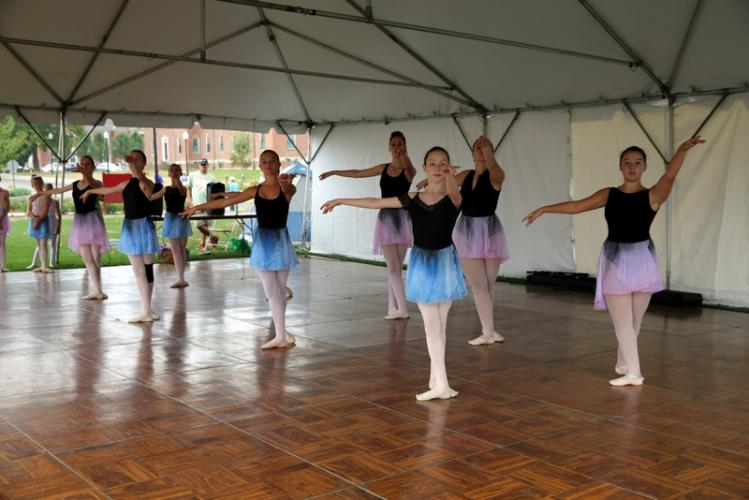 Dancers from the Newtown Centre of Classical Ballet & Voice performed at the 2017 Newtown Arts Festival on Saturday, September 16. (Bee Photo, Hallabeck)