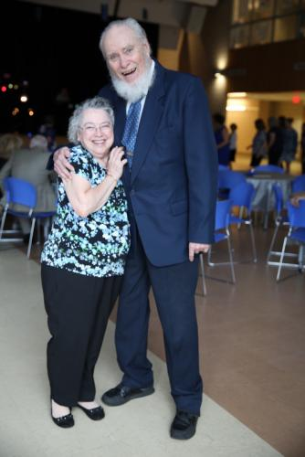 Ann and Bob Schaedler pose for a photo during the Newtown Parks & Recreation Senior Citizen Prom on May 4. (Bee Photo, Hallabeck)