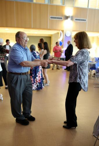 Carmine and Joan Boccuzzi displayed their dancing talent at the Newtown Senior Citizen Prom.  (Bee Photo, Hallabeck)