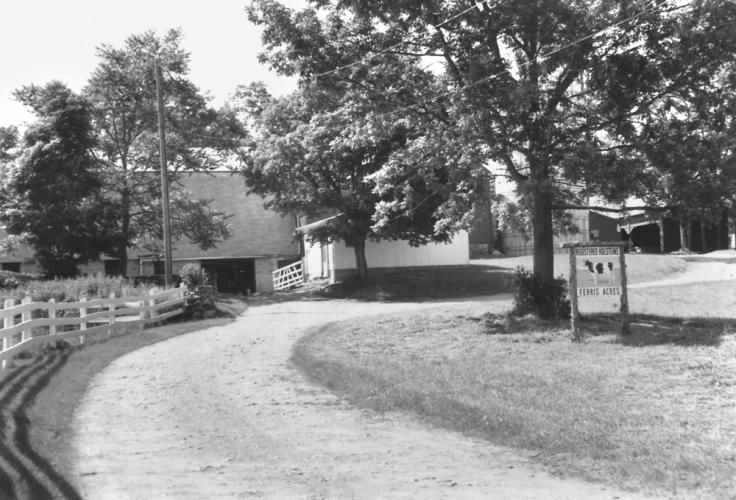 The Ferris Acres Farm as it appeared in the mid 1980s.  (Pat McNally photo)