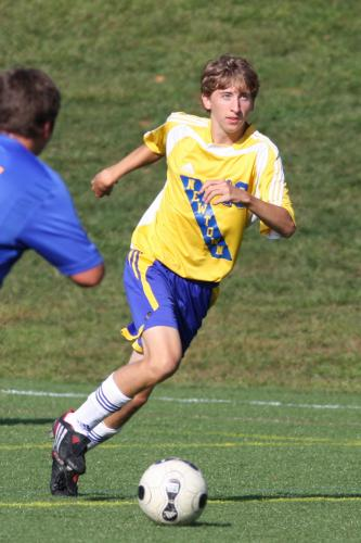 Chad Cullens playing soccer is an example of the sports action photography that will be discussed during the March 8 Flagpole Photographers Camera Club program.  (Chane Cullens photo)