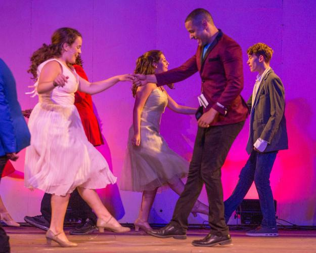 Sydney Coelho stars as Ariel opposite Erick Sénchez as Ren in Musicals at Richter's production of Footloose, which continues Thursday through Saturday, July 14-16. Remaining performances are out-doors under the stars Thursday, Friday…