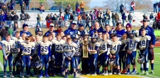 Newtown's fourth grade football team was runner-up in the Shoreline Conference.  (Jenn Foss photo)